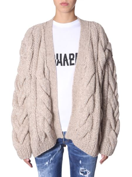 Dsquared - Knitted Cardigan In Braiding
