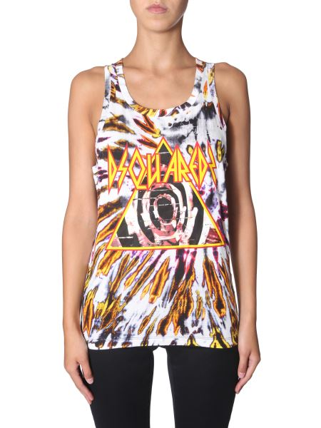 Dsquared - Tie And Dye Print Cotton Top