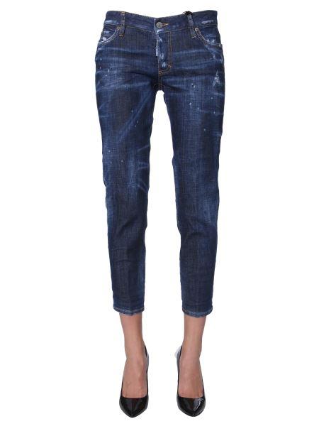 Dsquared - Jennifer Cropped Denim Stretch Jeans