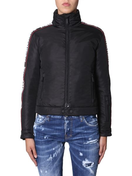 Dsquared - Down Jacket With Logo Band