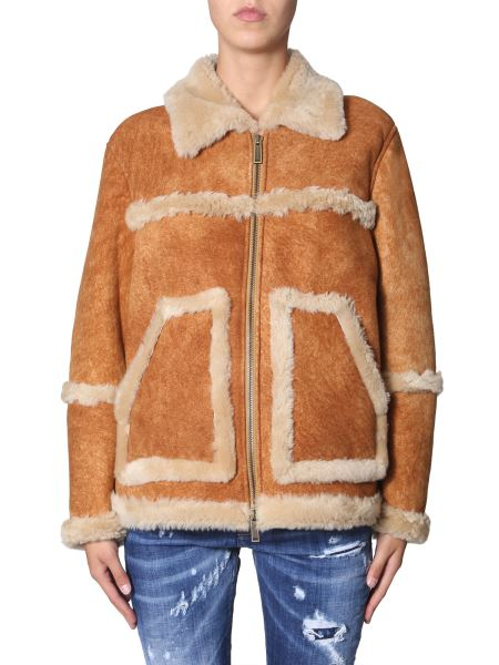 Dsquared - Sheepskin Jacket With Pockets