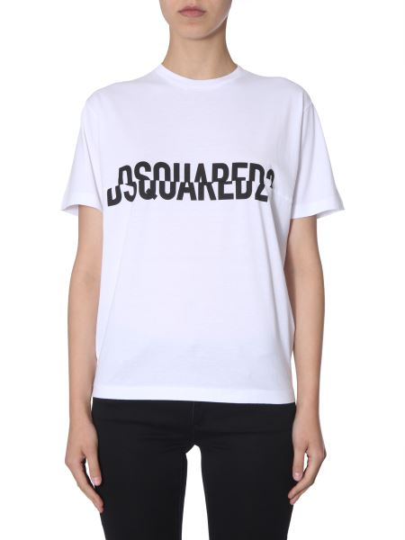 Dsquared - New Diana Fit Cotton T-shirt With Logo Print