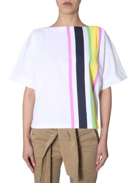 Marni - T-shirt In Cotone Con Stampa A Righe