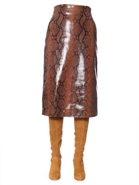 Dsquared - Python Print Leather Skirt