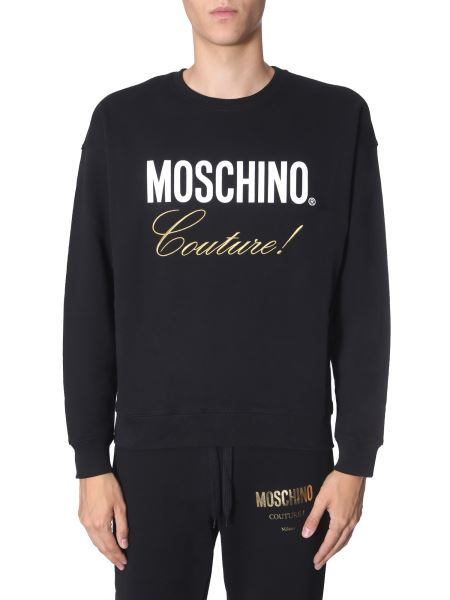 Moschino - Round Neck Cotton Sweatshirt With Logo