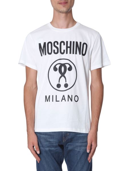 Moschino - Cotton T-shirt With Double Question Mark Logo