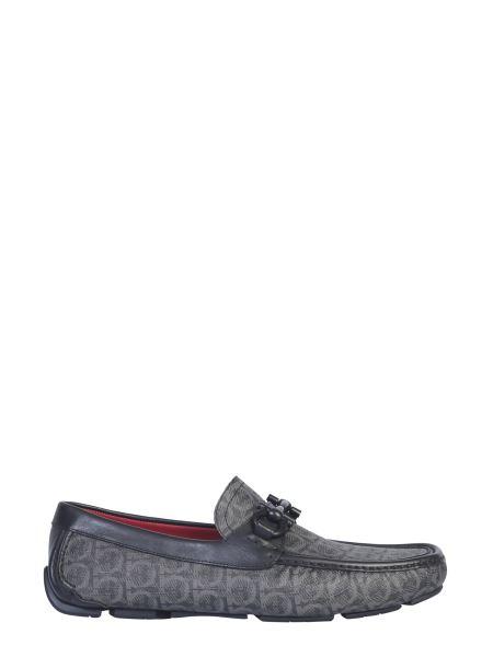 Salvatore Ferragamo - Driver Half Leather Monogram Loafers