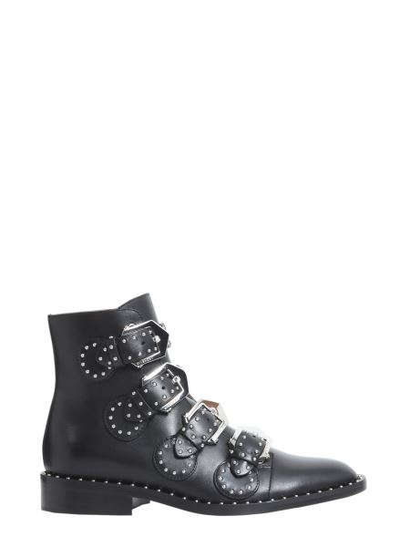 Givenchy - Elegant Studs Leather Low Boots