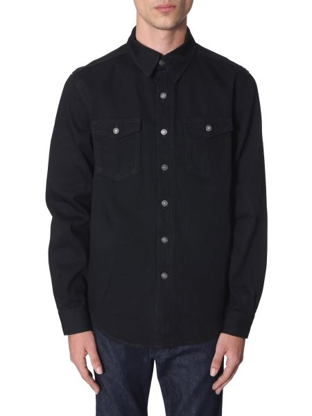 Givenchy - Cotton Shirt With Embroidered Logo