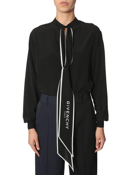 Givenchy - Silk Shirt With Scarf Collar