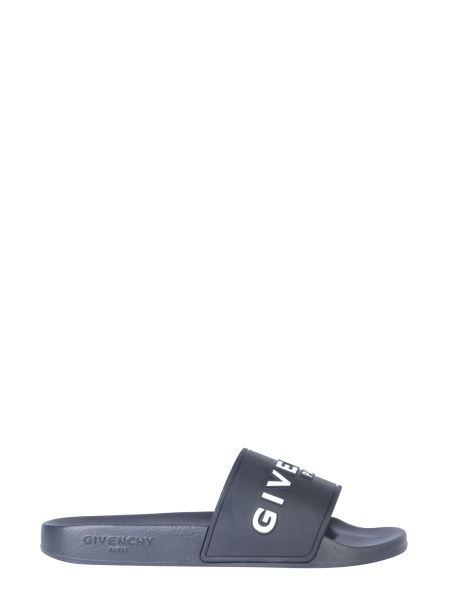 Givenchy - Slide Rubber Sandal With Logo