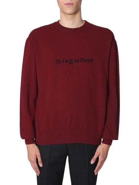Givenchy - Maglia Girocollo In Lana Vergine Con Logo
