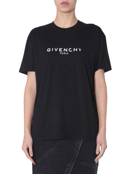 Givenchy - Oversize Fit Cotton T-shirt With Logo Print