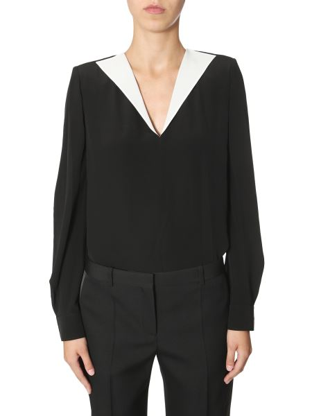 Givenchy - Silk Shirt With Contrasting Collar