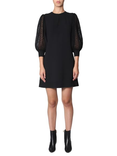 Givenchy - Wool Dress With Pleated Sleeves