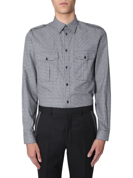Givenchy - Camicia Regular Fit In Cotone Patchwork A Quadri
