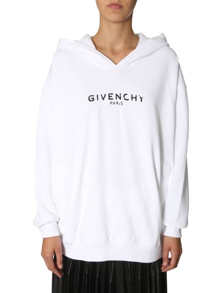 Givenchy - Oversize Fit Hooded Cotton Sweatshirt