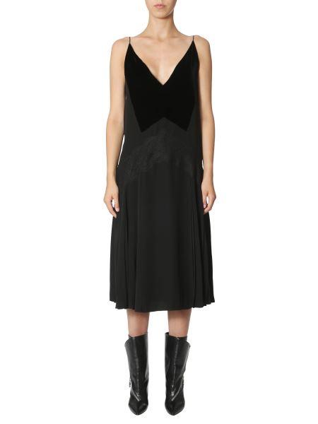 Givenchy - Sleeveless Dress With Velvet Neck