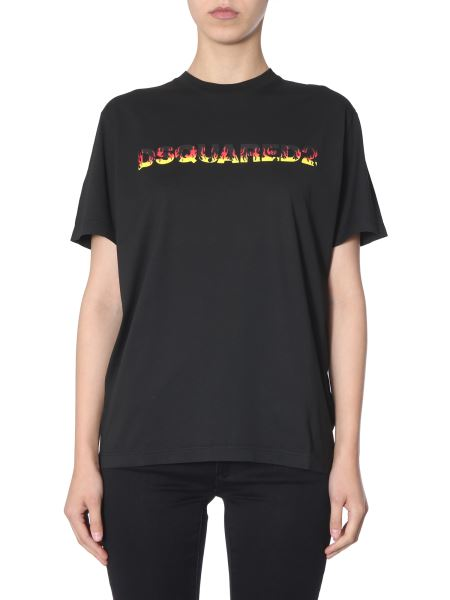 Dsquared - Smoke Cotton T-shirt With Logo