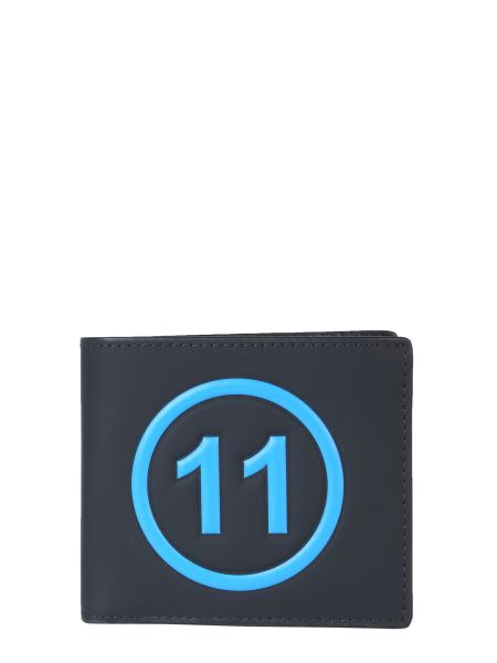 Maison Margiela - Portafoglio Bifold In Pelle Con Logo