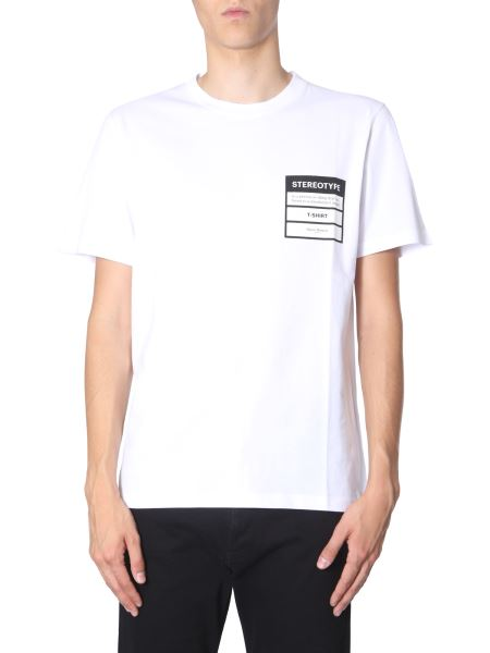Maison Margiela - T-shirt Stereotype Girocollo In Cotone