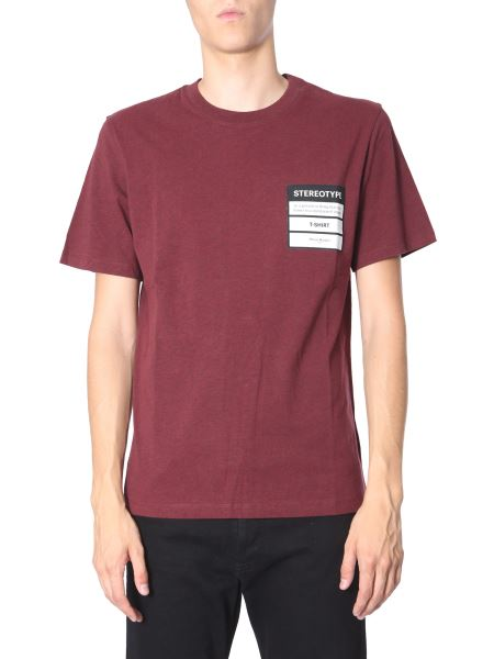 Maison Margiela - T-shirt Stereotype Girocollo In Cotone