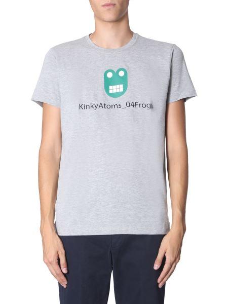 Aspesi - Round Neck T-shirt With Kinky Atoms Polyfem Print