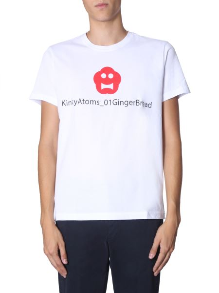 "Aspesi - ""ginger Bread"" Round Neck Cotton T-shirt"