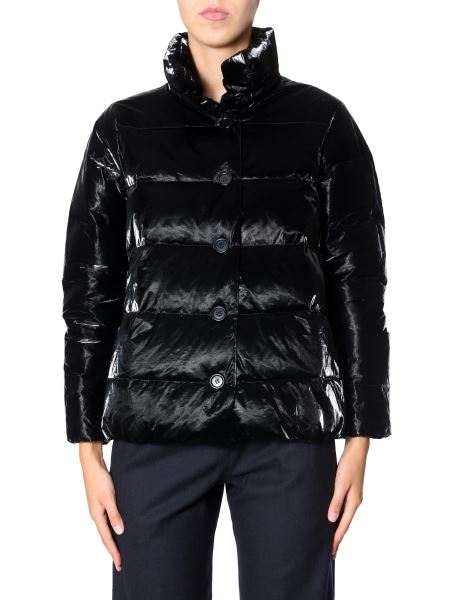 "Aspesi - ""45 Rpm"" Velvet Effect Laminate Down Jacket"