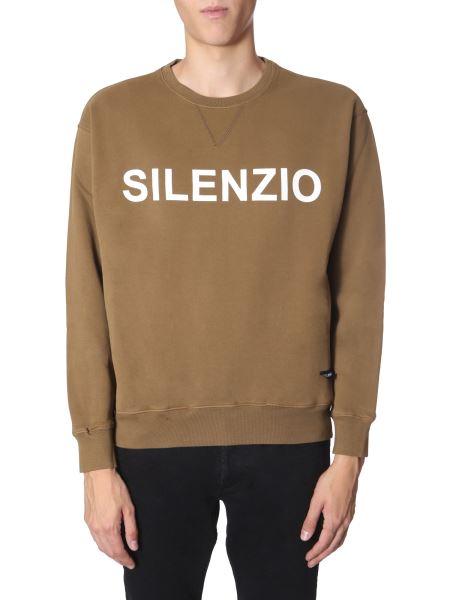 "Aspesi - ""silenzio"" Round Neck Cotton Sweatshirt"