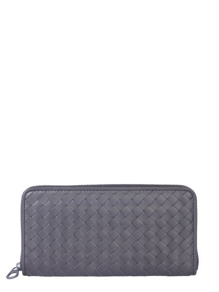 Bottega Veneta - Hand Braided Zip Wallet In Leather