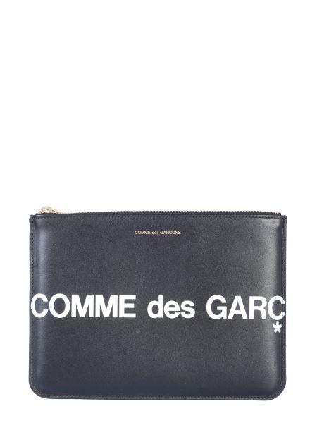 Comme Des Garcons Wallet - Huge Leather Document Holder With Logo