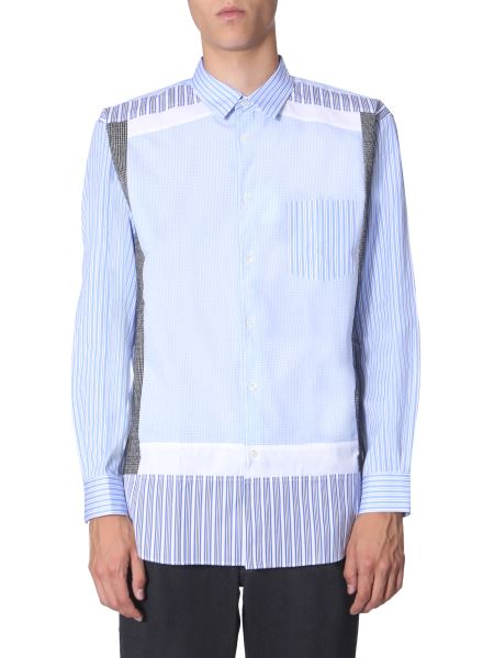 Comme Des Garcons Shirt - Camicia In Cotone Patchwork