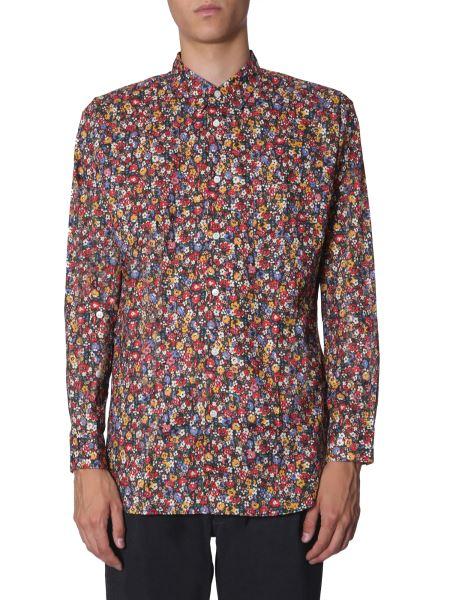 Comme Des Garcons Shirt - Floral Print Cotton Shirt