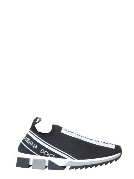 Dolce & Gabbana - Sorrento Sneakers In Stretch Sweaters With Logo