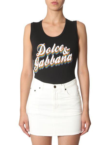 Dolce & Gabbana - Top Con Stampa Logo