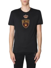 DOLCE & GABBANA - T-SHIRT PATCH STEMMA