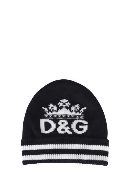 Dolce & Gabbana - Cappello In Maglia Con Intarsio Corona
