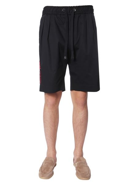 Dolce & Gabbana - Cotton Bermuda With Patch And Side Band
