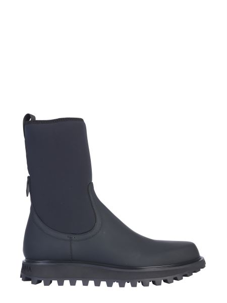 Dolce & Gabbana - Vulcanized Neoprene And Leather Boot