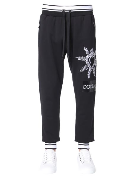 Dolce & Gabbana - Cotton Jogging Trousers With Patch