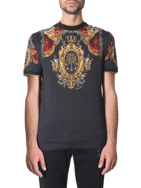 Dolce & Gabbana - Heraldic Print Cotton T-shirt
