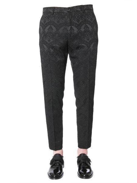 Dolce & Gabbana - Regular Fit Jacquard Trousers