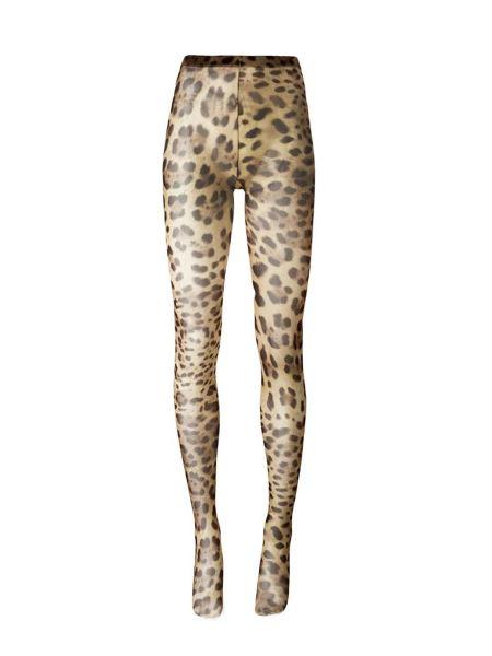 Dolce & Gabbana - Calza Con Stampa Animalier