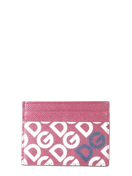 Dolce & Gabbana - Leather Card Holder With Logo Print