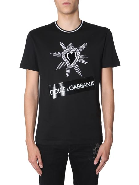 Dolce & Gabbana - Cotton T-shirt With Embroidered Heart