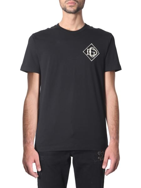 Dolce & Gabbana - Cotton T-shirt With Embroidered Logo