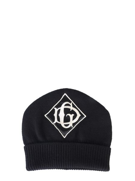 Dolce & Gabbana - Cappello In Lana Con Logo Ricamato