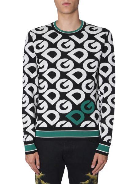 Dolce & Gabbana - Logo Printed Wool Sweater