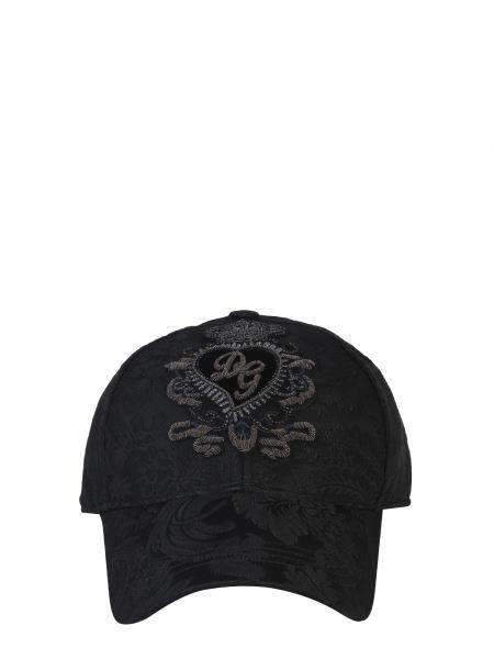 Dolce & Gabbana - Cappello Baseball Jacquard Con Loro Ricamato A Mano